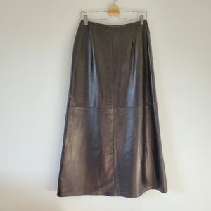 Danier vintage leather skirt